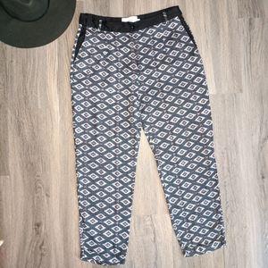 Munthe Mia Printed Viscose Cropped Pants Size 38